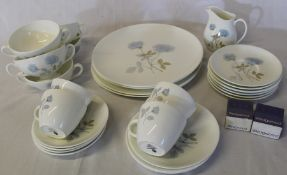 """Wedgwood """"Ice Rose"""" part dinner service approximately 30 pieces"""