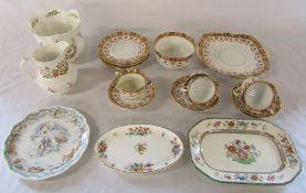 Royal Albert part tea service, Aynsley 'Cottage Garden', Minton and Royal Doulton etc