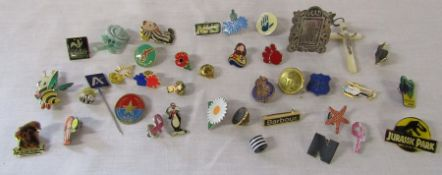 Various pin badges inc Civic Defence Corps, GFS and Barbour
