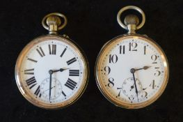 2 Agentan Goliath pocket watches (one not working)
