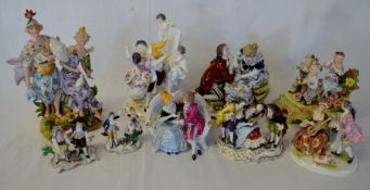 #AMENDED PHOTO# 9 late 19th/early 20th century Continental porcelain figural groups (AF)