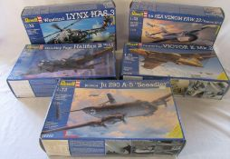 Selection of Revell model kits inc Westland Lynx Has.3, Handley Page Halifax B, Handley Page