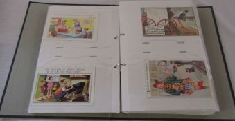 Postcard album containing comic and character postcards dating from the early 1900s onwards -