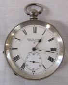 Silver Kay & Company Worcester pocket watch, made in Locle
