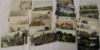 Selection of approximately 80 Lincolnshire postcards inc Louth, Grimsby, Brigg etc