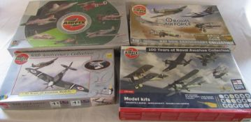 4 Airfix model kits - Commemorative gift set 90 years of Fighters, 50th Anniversary Collection,