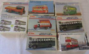 Selection of Keil Kraft plastic model kits inc 1920s open top b-type London bus, London Feltham
