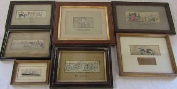 Various Stevengraph embroidered pictures / weaving on silk inc The Death, The Slip, The Last Lap, Ye