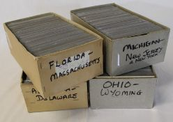 4 boxes of twentieth century United States of America postcards (approximately 2,000)