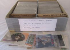 Approximately 650 postcards relating to ladies fashion and romance dating from the Edwardian