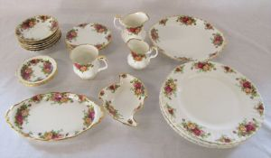 23 pieces of Royal Albert 'Old Country Roses' ceramics