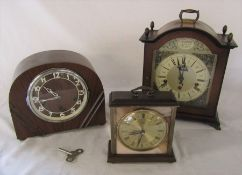 3 mantel clocks
