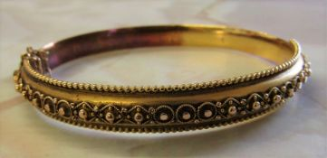 15ct gold Victorian bangle / bracelet Birmingham 1899 11.6 g (with original box)