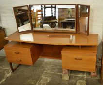 Retro teak G Plan dressing table (with broken leg) and a G Plan headboard