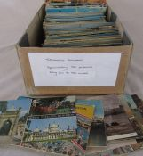 Box of approximately 550 topographical postcards dating from the 1960s onwards