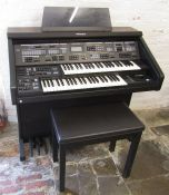 Technics sx-EX70 electronic organ with stool and manual