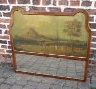 19th century trumeau or pier glass painted with an Italian landscape