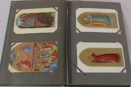 Postcard album containing approximately 98 postcards and 2 election cards relating to politics,