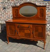 Early 20th century mirror back sideboard on cabriole legs W 154 D 55 Ht 167cm