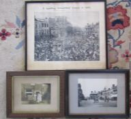 3 framed photographs / print relating to Spalding - Spalding Market Place, S Timm baker & A Spalding