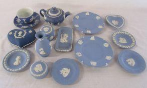 Various Wedgwood jasperware ceramics