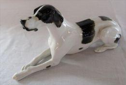 Large Lomonosov figure of a Great Dane dog L 30 cm