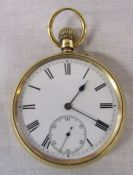 18ct gold pocket watch (not working) movement inscribed 'Usher & Cole makers to the Admiralty'` no