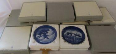 11 Royal Copenhagen boxed Christmas plates