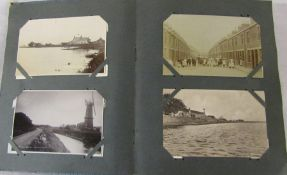 Album of approximately 199 postcards inc Lincolnshire, topographical and comic cards