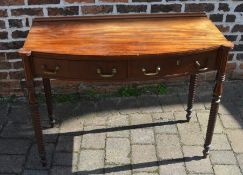 Georgian mahogany writing table with barley twist legs W105cm D48cm H79cm