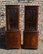2 reproduction Georgian style corner cabinets