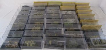 Approximately 40 cased die cast model tanks (2 boxes)