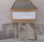 Box of approximately 400 postcards relating to artists, silouettes and mutoscope cards (6) dating
