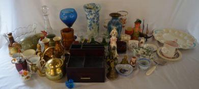 Various ceramics, glass ware etc (2 boxes)