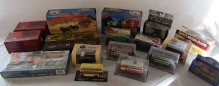Various boxed die cast cars and buses inc Corgi and Matchbox
