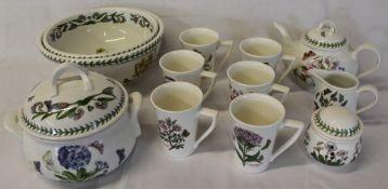 Selection of Portmeirion Botanic Garden tableware
