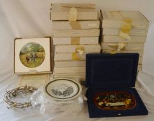 20 boxed Royal Doulton collectors plates, 6 Louth plates & a Bradford Exchange Last Supper