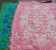 2 large bedspreads / throws