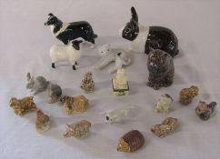 Various animal ceramics inc Beswick and Wade