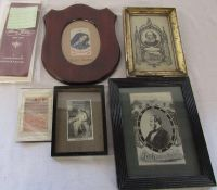 Assorted Stevengraph embroidered pictures / weaving on silk inc Mater Dolorosa, Prince Albert,