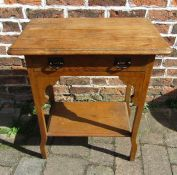 Oak Arts & Crafts side table H 74 cm, L 60 cm