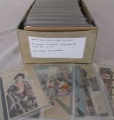 Box of approximately 400 postcards relating to ethnic, novelty etc dating from the early 1900s