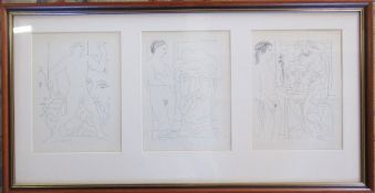 Pablo Picasso (1881-1973) 3 prints from the Vollard Suite published in 1956 31.5 cm x 79.5 cm (