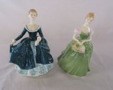 2 Royal Doulton figurines - Clarissa HN 2345 and Janine HN 2461
