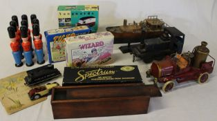 Boxed Bachmann 44-Ton Switcher, 2 Vanguard die-cast vehicles, 2 Corgi Comic Classics, cased set of