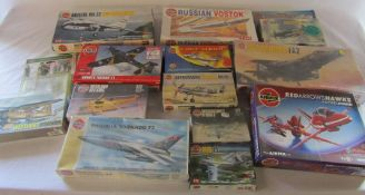 Quantity of Airfix model kits inc Red Arrows, Russian Vostok and Sea Harrier