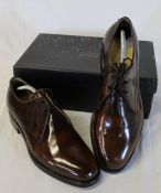 Pair of brown leather handmade Samuel Windsor shoes size 7.5