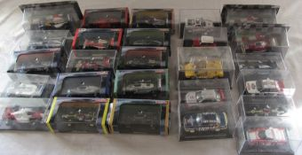 Approximately 26 die cast model cars inc Grand Prix Legends of F1 by Atlas Editions