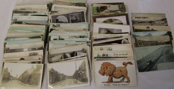 Approximately 280 postcards inc 190 UK topographical