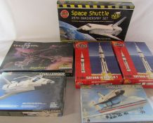 Selection of Airfix and Revell model kits relating to Space inc Space Shuttle 25th anniversary